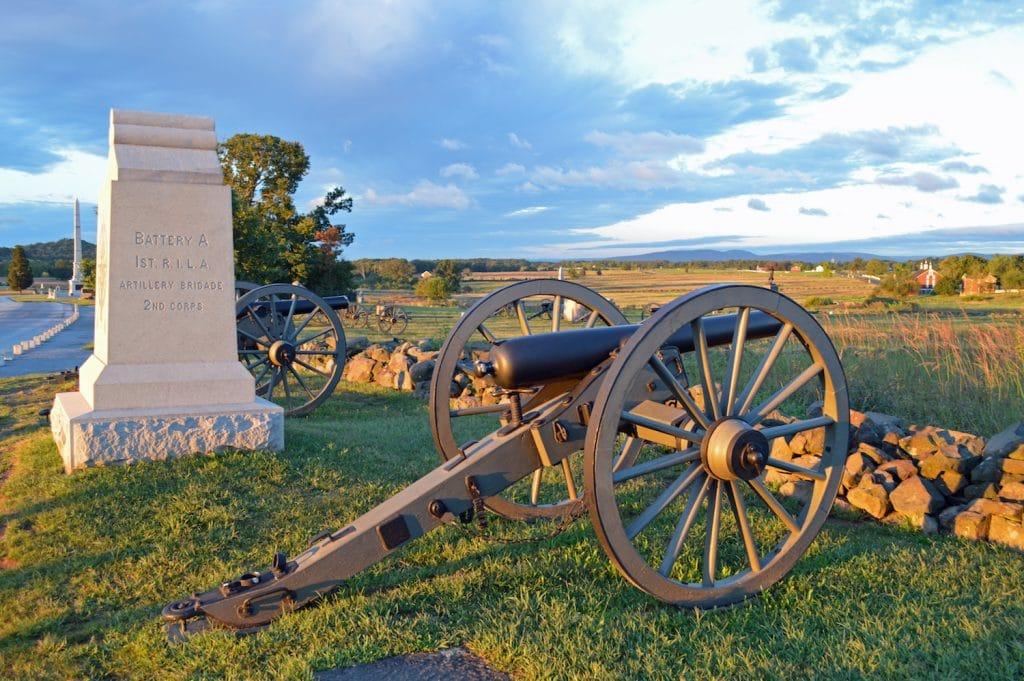 Driving tour at Gettysburg National Battlefield, Pennsylvania