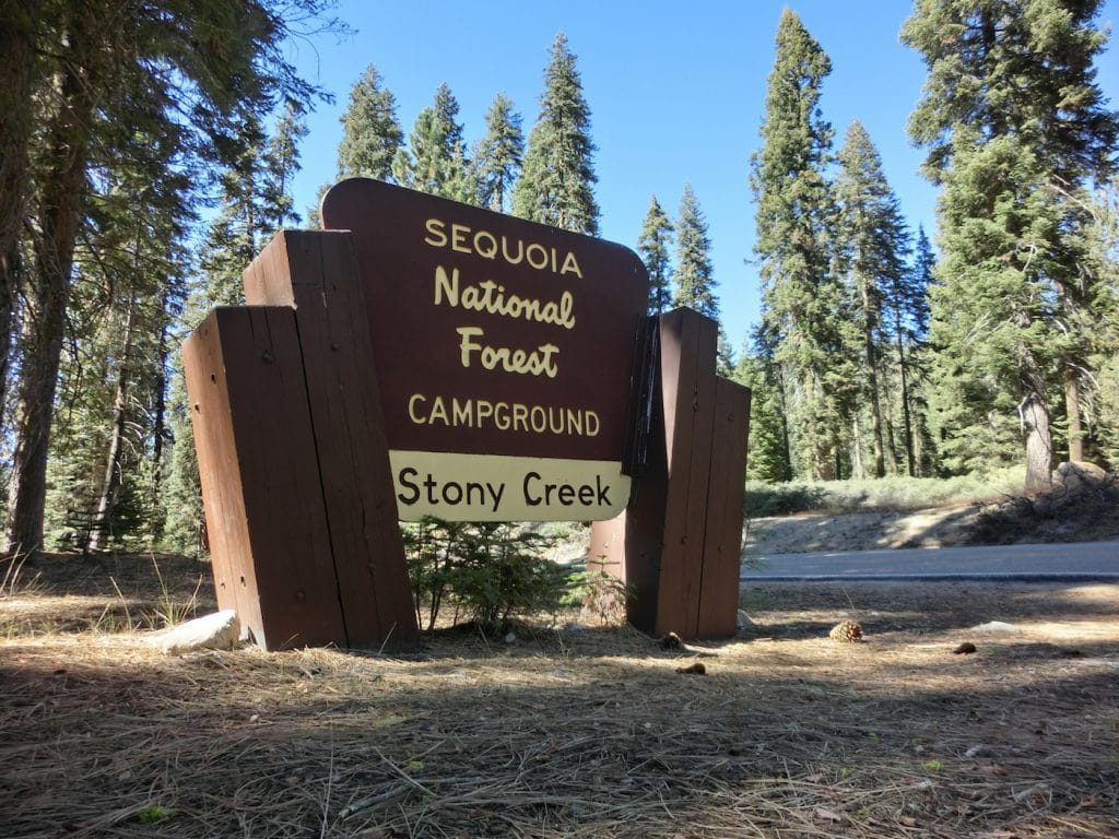 Sequoia national forest wooden entry sign - landscape photo