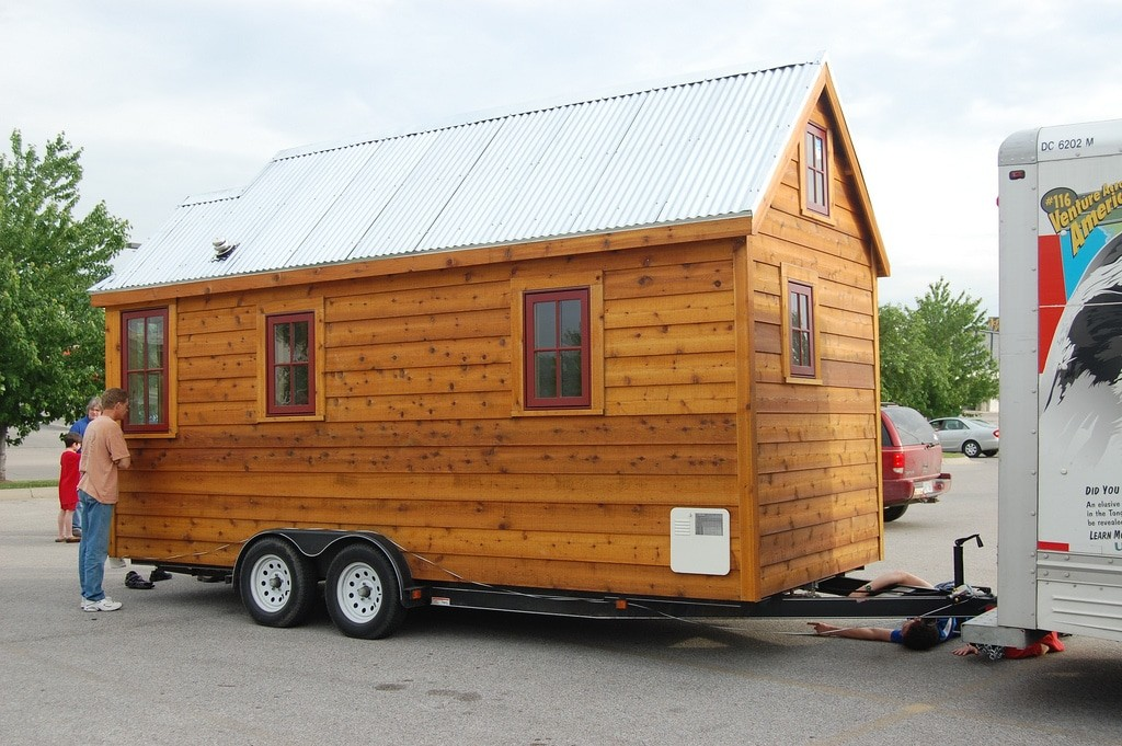 A tiny house on wheels.