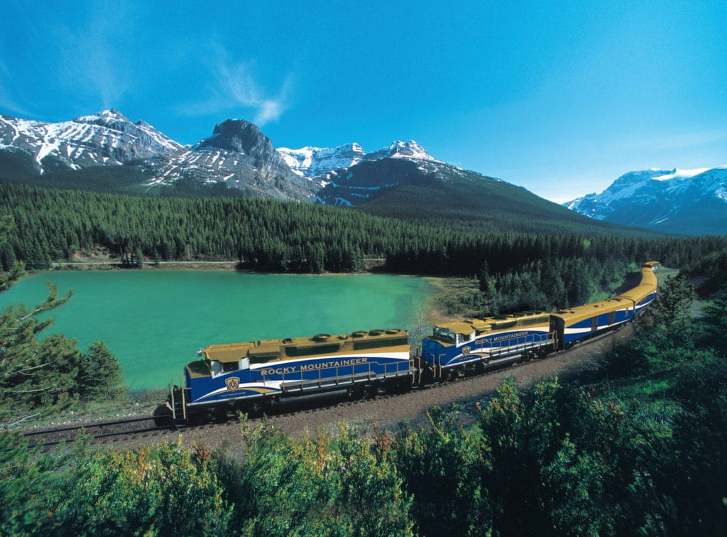 ride a train in the Rockies