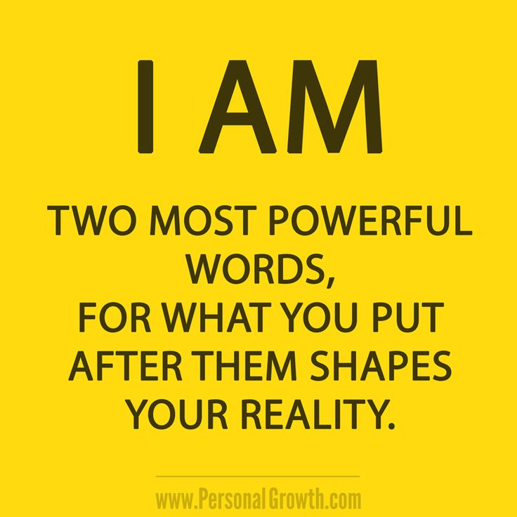 I am statements