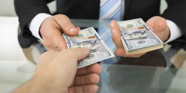 borrowing money, one hundred dollar bills