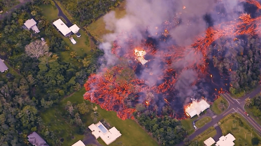 house on fire in hawaii