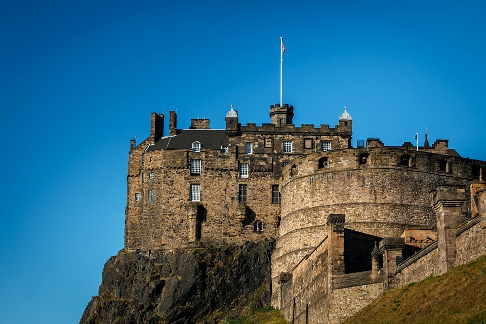 side part of edinburgh castle