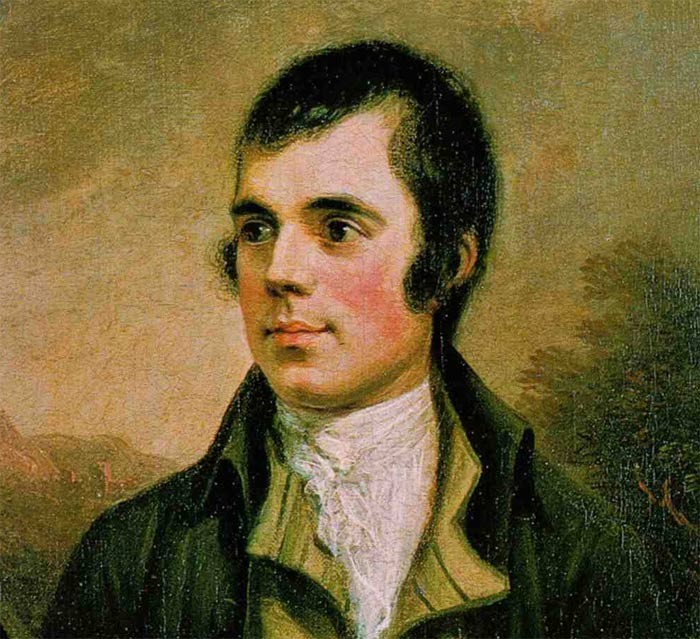 painting image of robbie burns side view