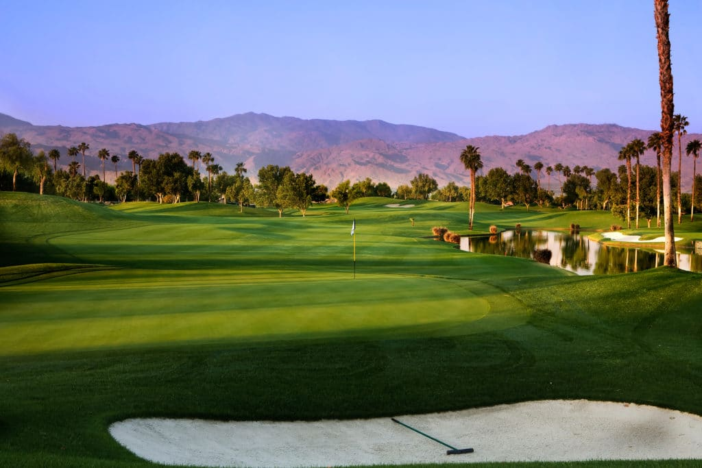 Palm Springs golf in the early morning light