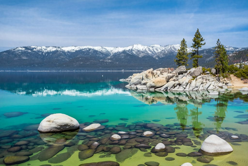 Sand Harbor area with rocky shore, Lake Tahoe