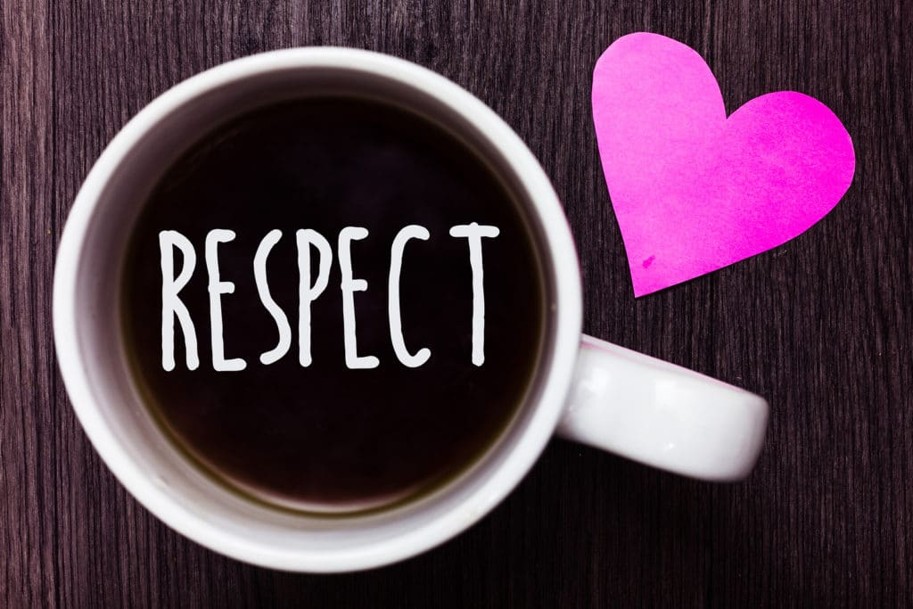 Handwriting text Respect. Concept meaning Feeling of deep admiration for someone or something Appreciation Mug coffee lovely thoughts ideas love hart romantic memories brown wood