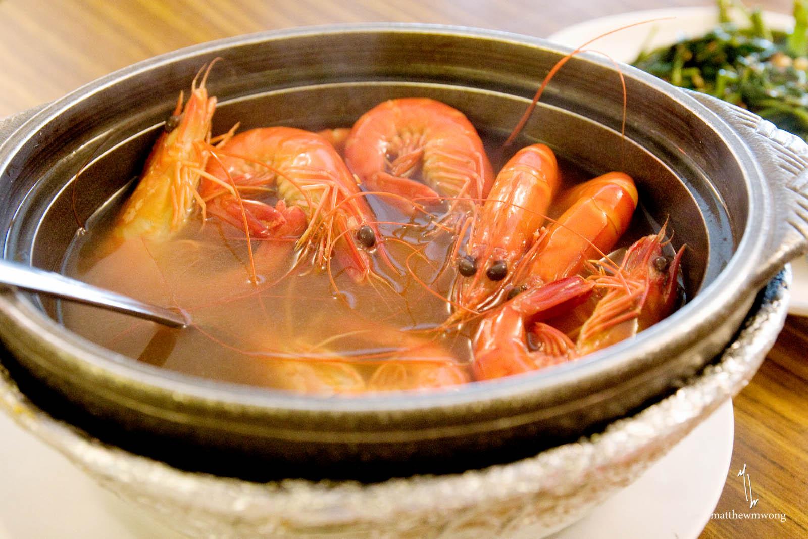 Herbal Drunken Prawns from Jumbo Seafood