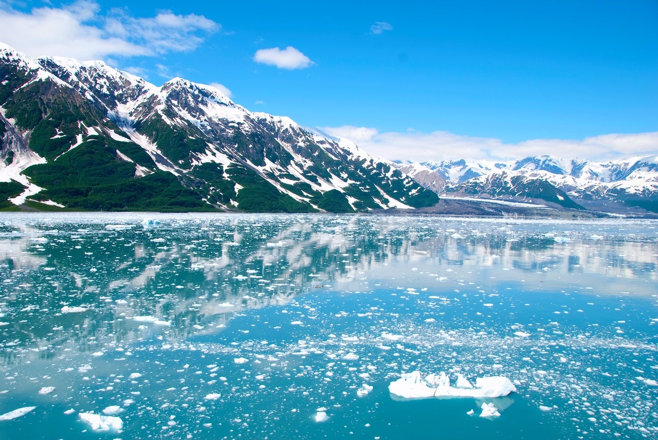 alaska glacier ice mountains as one of the best american river cruise